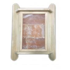 Абажур угловой с гималайской солью на три плитки