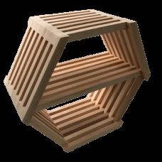 Полка шестигранная большая