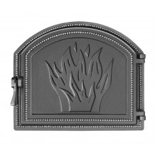 Дверца Везувий каминная 218 (антрацит)