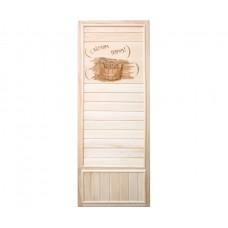 DoorWood 750x1850 Вагонка (с легким паром, коробка липа)