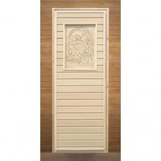Дверь 700x1900 Вагонка (с рисунком, коробка хвоя)