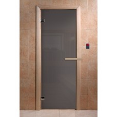 """DoorWood 700x1900 """"Сумерки"""" (Графит прозрачное, коробка хвоя)"""