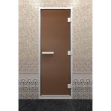 Doorwood 1900x700 (хамам, бронза матовая, коробка алюминий)