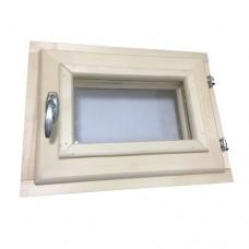 Окно для бани 60х60 (Липа, два стекла)