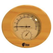 """Термометр с гигрометром """"Банная станция"""" овальный"""