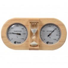 Термометр с гигрометром для бани с песочными часами