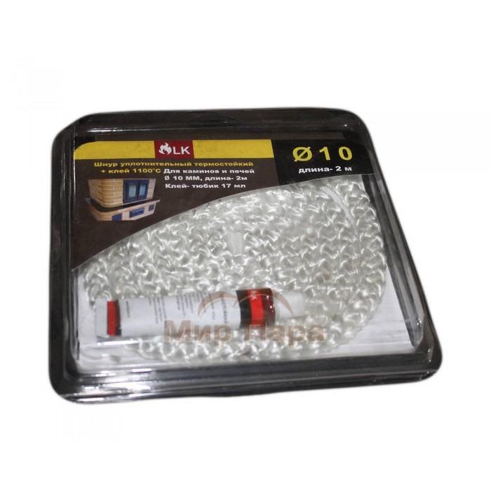 Шнур термостойкий (2 м/п) 10мм + клей 17мл