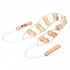Массажер деревянный ленточный для спины арт.40071