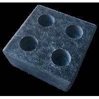 Испаритель на 4 отверстия из камня талькохлорит