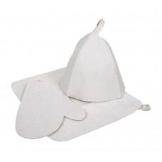 Подарочный набор 3 предмета (шапка, коврик, рукавица) Hot Pot
