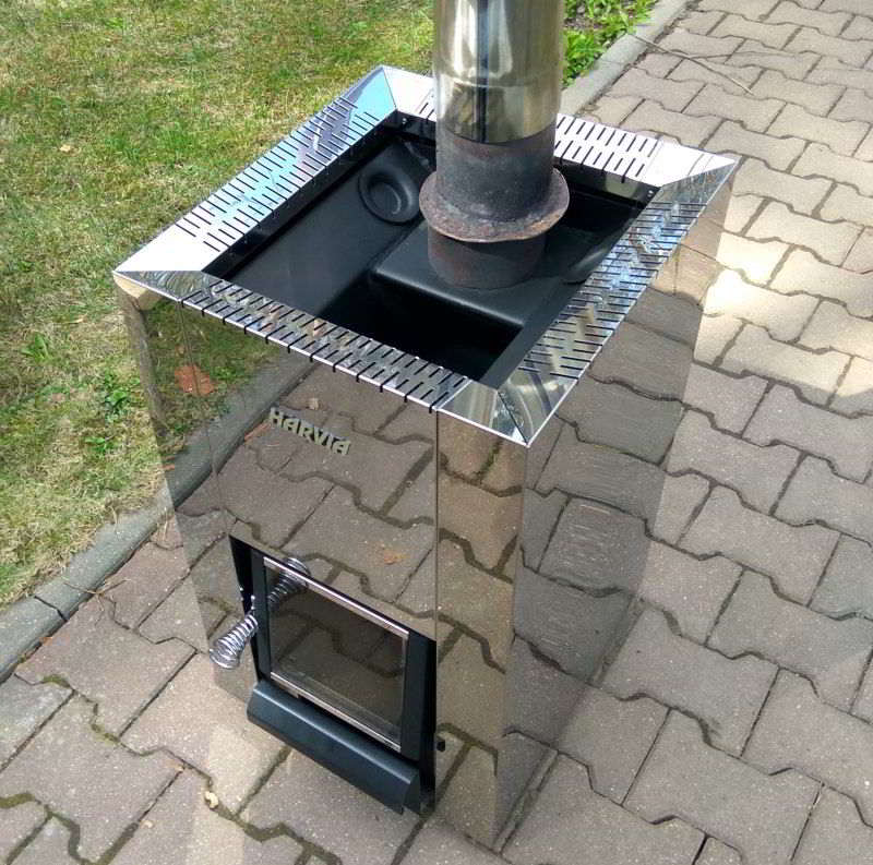 Дровяная печь для бани Harvia 16 steel с конвекцией